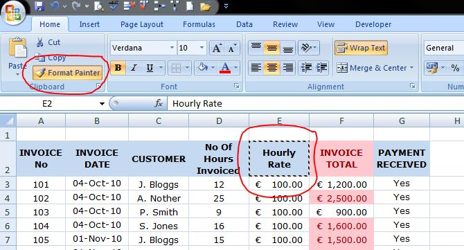 Standard Invoice Format Excel Word How To Conditionally Format A Cell In Excel   Outofhoursadmin Capital Receipts Excel with Generate Lic Receipt Online Pdf Then  Blank Taxi Cab Receipt